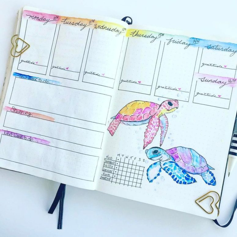 From Fancy to Fabulous 20 more Bullet Journal Weekly Spread | Zen of Planning | Planner Peace and Inspiration