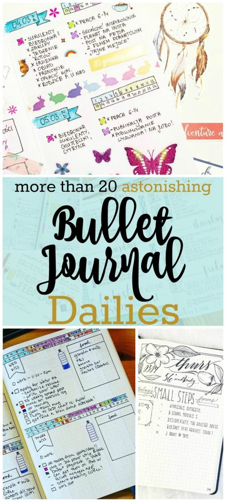 Does your bullet journal need a little boost? Spice it up with these bullet journal daily logs.