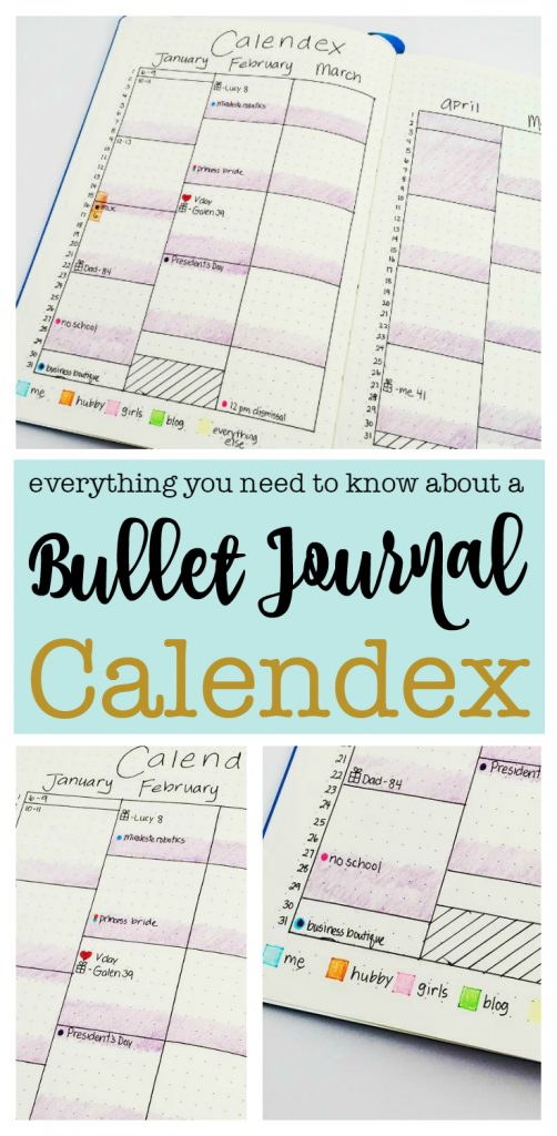 Interested in trying a Bullet Journal Calendex? Find an explanation and tons of bullet journal inspiration | Zen of Planning | Planner Peace and Inspiration