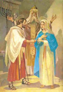 Quadro dos Santos Esponsais no Santuário N. S. de Lourdes, em Verona, Itália