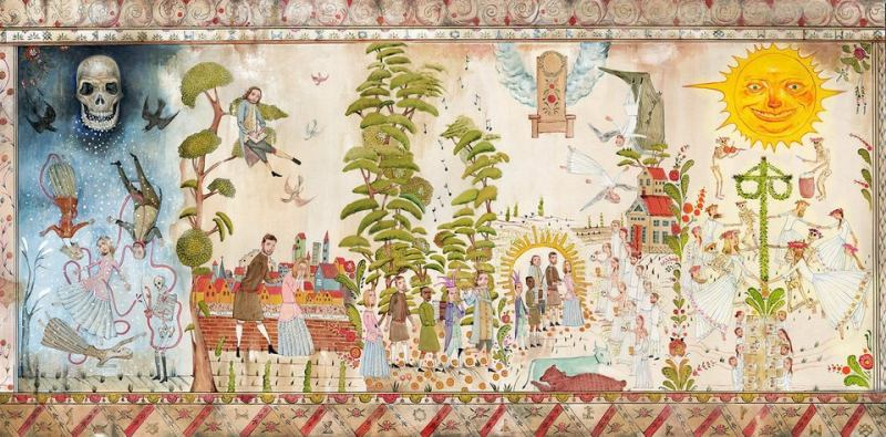 The mural at the start of Midsommar tells the whole story of psychedelic healing