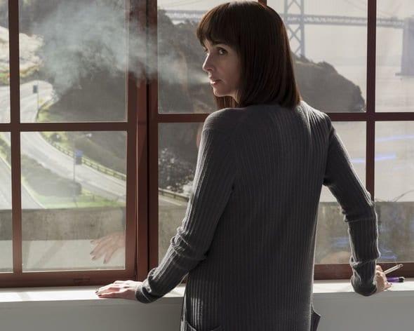 Renata smoking in the hospital
