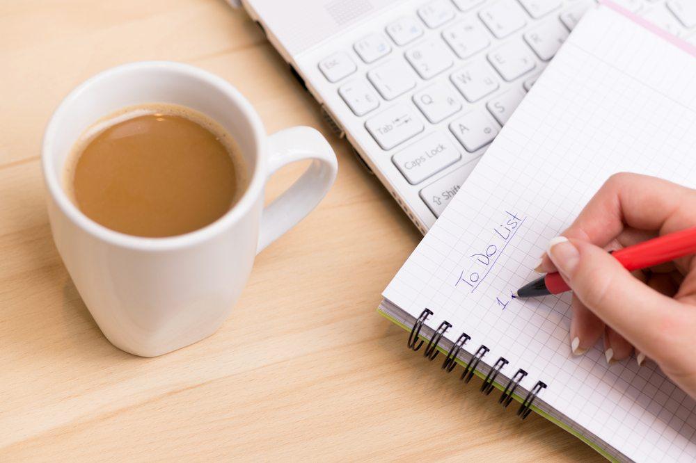 Woman writing a business plan