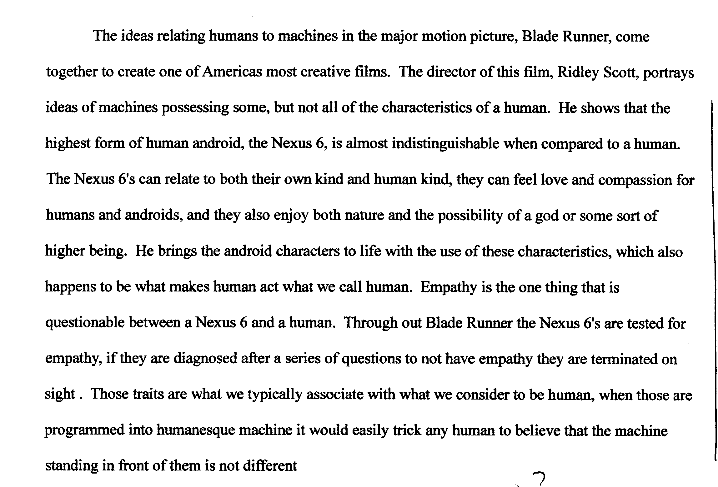 essay on human nature
