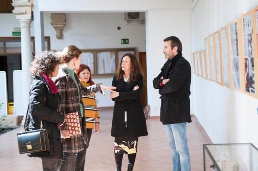 Remedios Palma, Delegada de Educación, visita la Escuela