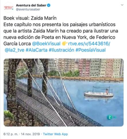 Zaida Marin tweet