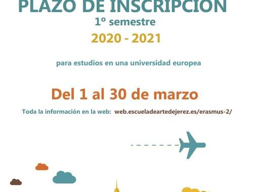 Cartel Inscripción Erasmus
