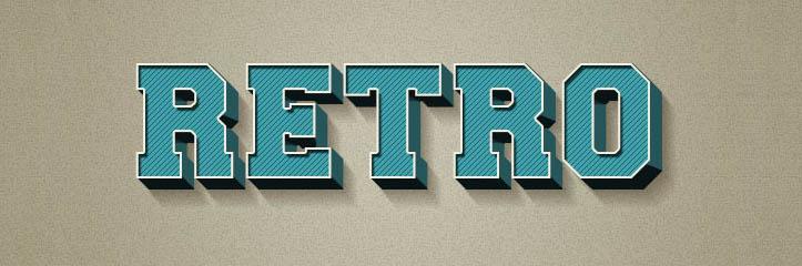 Adobe Photoshopのレイヤースタイルを使って、3Dのレトロテキストエフェクトを作成