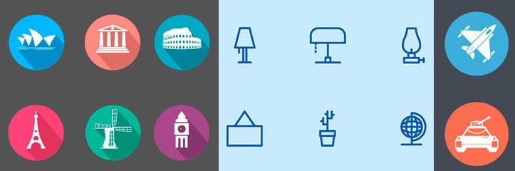 デザイナーのための無料のベクター形式アイコン 2015