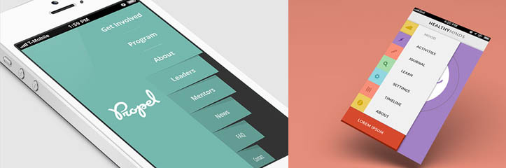 30の素晴らしいモバイルナビゲーションメニューデザインコンセプト