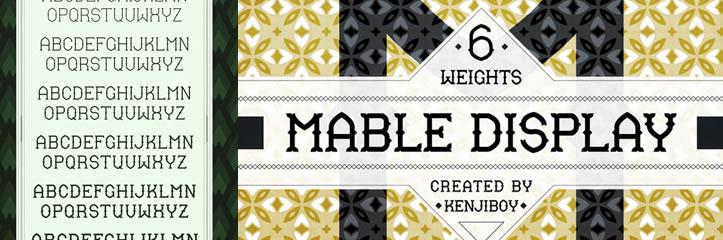 Mable Display : オールドスタイルフリーフォント