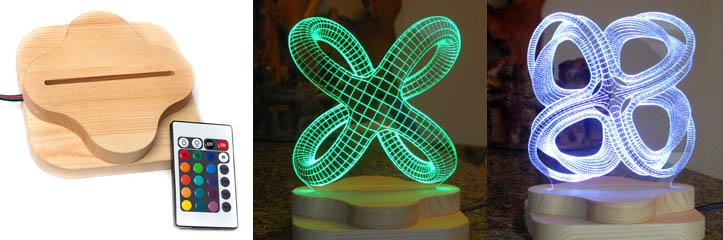 これらの幾何学的な3Dイリュージョンライトはこの世界から外れています