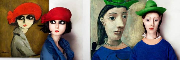 有名な絵のモデルが現実で想像されます by Flora Borsi