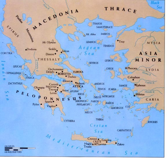 Map Of Ancient Persia Near Greece