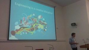 Jonny Austin giving a presentation