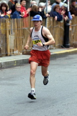 Dan Feldman ran the Boston Marathon in less than two and a half hours in 2002.