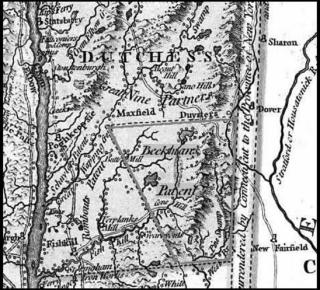 1776 map showing the Beekman Patent