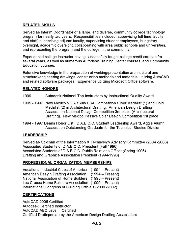 Drafting resume examples