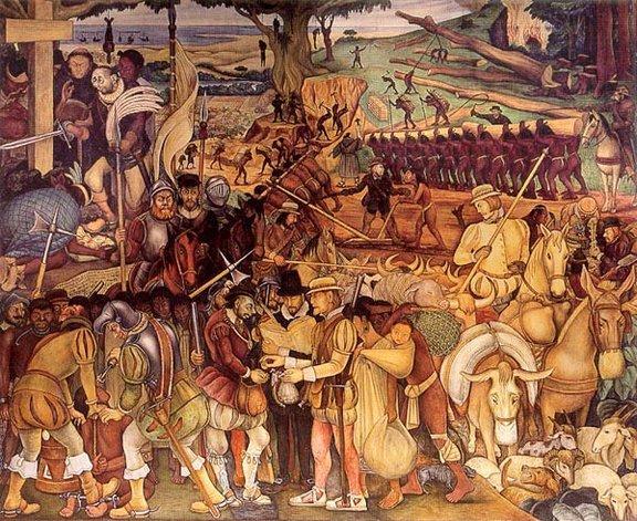 La Conquista española de la nación aztec