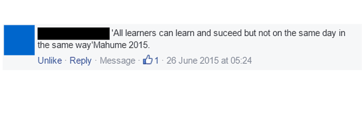 All learners can succeed!