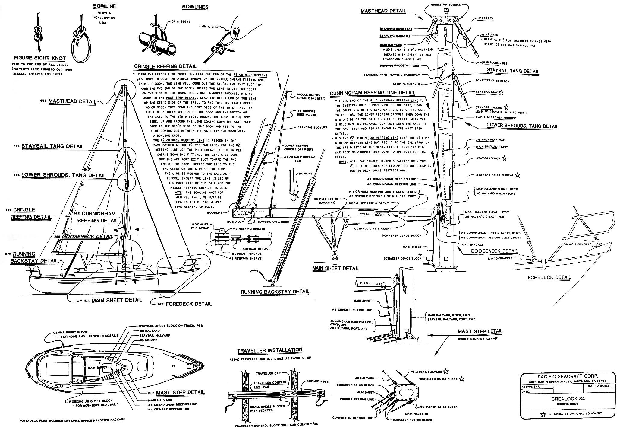 Yacht Parts Diagram