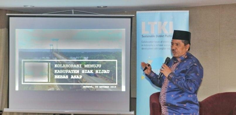 Jadi Pembicara Diskusi Forum LKTL di Jakarta, Bupati Siak Jelaskan Strategi dan Kebijakan Siak Hijau