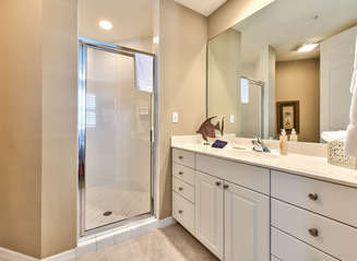 Bathroom to Twin Bedroom; Walk in Shower!