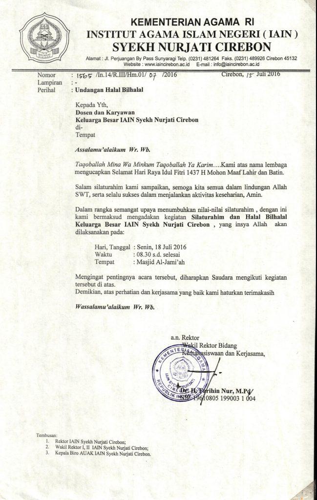 Undangan Halal Bihalal Idul Fitri 1 Syawal 1437 H