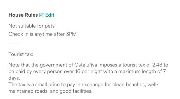 airbnb tourist tax