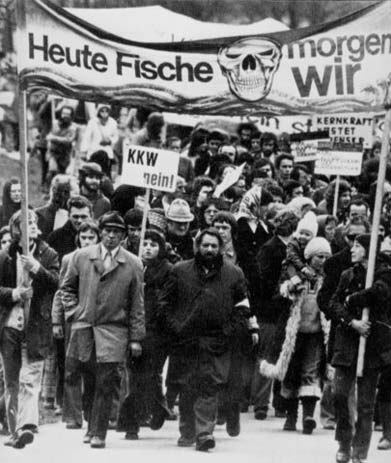 Protestmarch im Wyhl