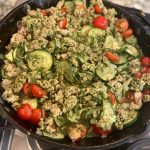 Image of Turkey Zucchini Skillet with Pesto