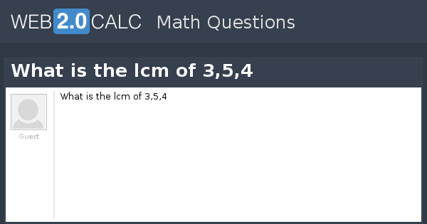 8 And Least Common 6 Multiple