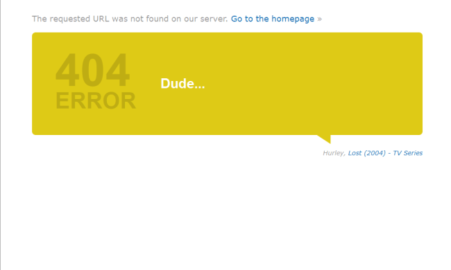 Best 404 pages: IMDb