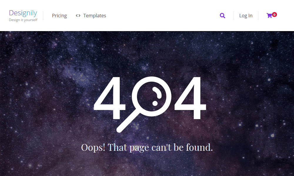 Best 404 pages: Designily