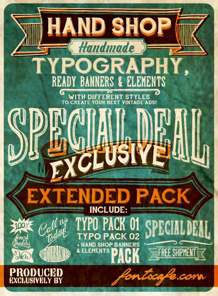 hand-shop-vintage-retro-font
