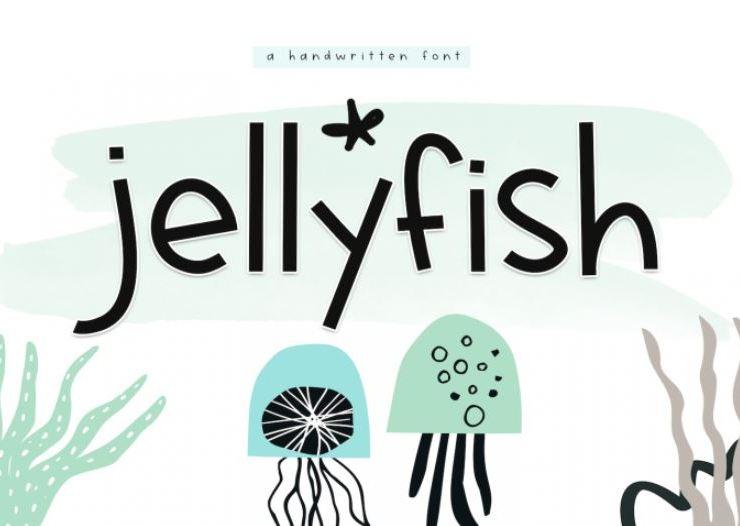 Jellyfish - A Fun Handwritten Font Web3Canvas