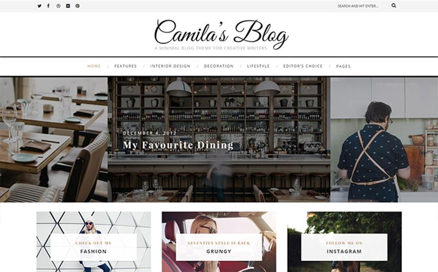 Multipage Blogging Website WordPress Theme