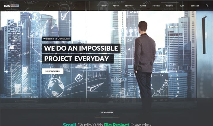 Boo - Creative - Cloud Hosting - University - eCommerce - Mobile App - Personal - Lawyer PSD Web3Canvas