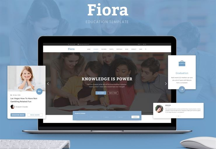 Fiora - Education Related Photoshop Web Template Web3Canvas