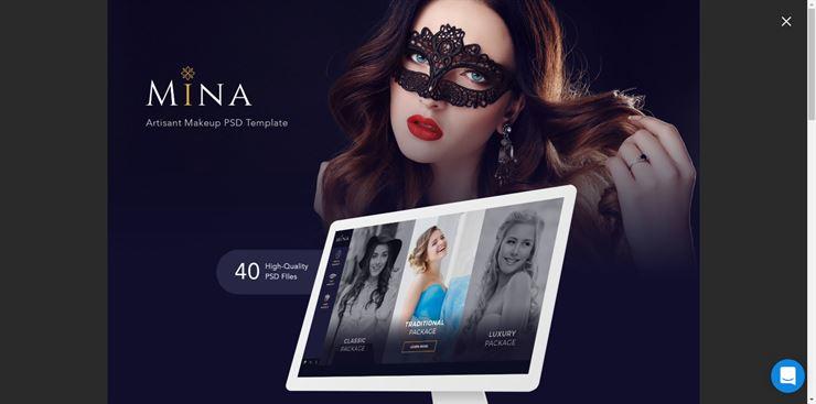 Mina Beauty PSD Template Web3Canvas