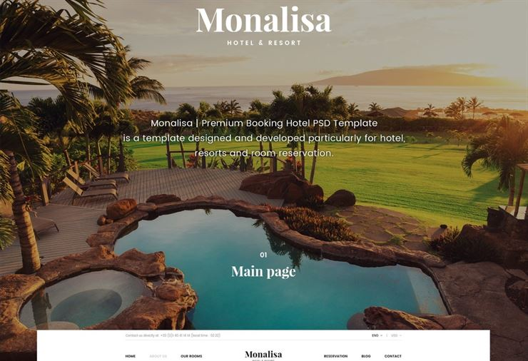 Monalisa - Travel Booking Hotel Template Web3Canvas