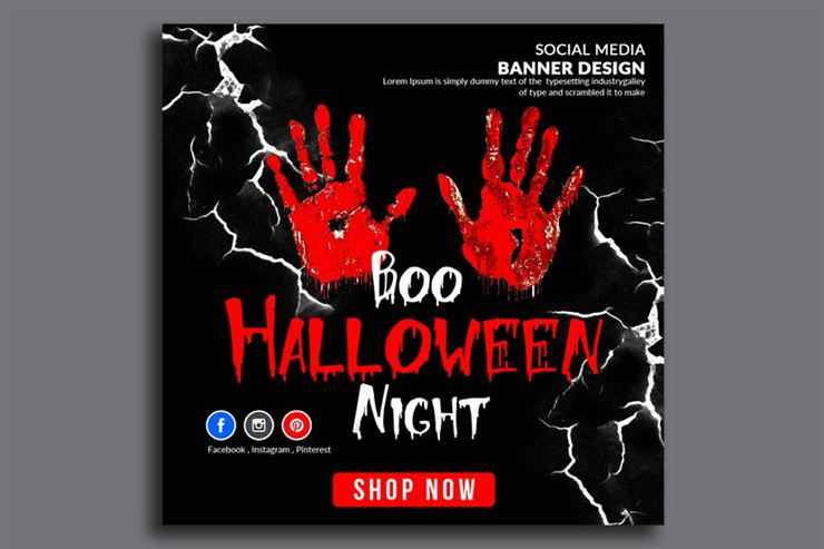 Halloween Banner Psd Template Web3Canvas