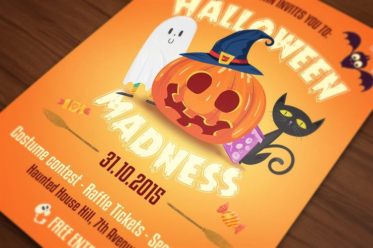 Halloween Flyer Cards Illustrations Web3Canvas