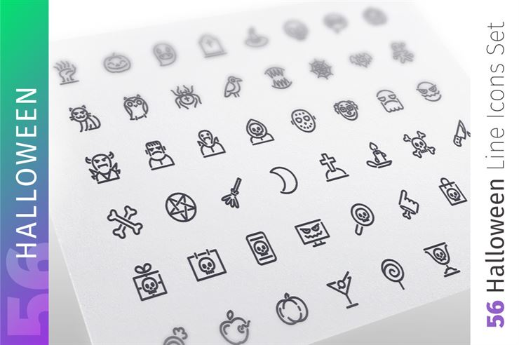 Halloween Line Icons Set Web3Canvas
