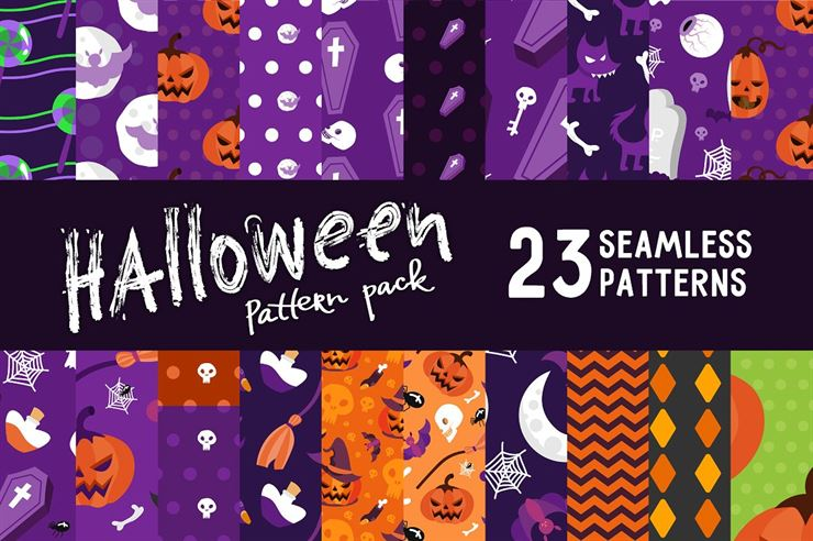 Halloween Seamless Pattern Pack Web3Canvas
