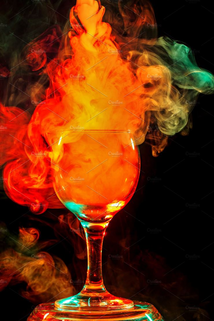 Orange Smoke in a Glass - Halloween Web3Canvas