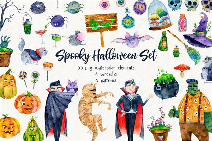 Spooky Halloween Clipart Web3Canvas