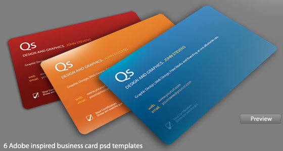 PSD Business Cards