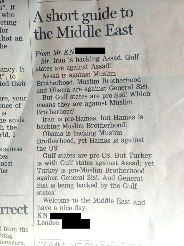 A short guide to the middle east