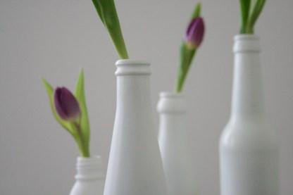 Flaschenhals-Quartett mit Tulpe. Foto: Julia Marre